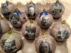 Patti's Creations: Personalized Collaged #Ornaments #holiday #MichaelsStores