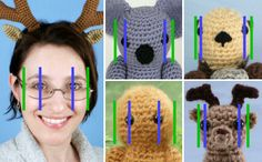 face proportions for amigurumi, by planetjune