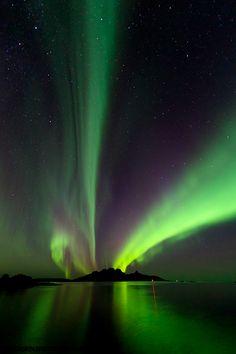 Auroras Boreales en Bodø, Noruega.-