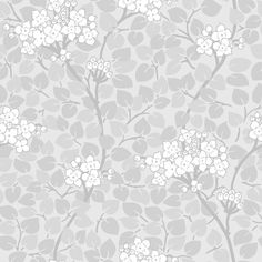 Tapet Grönska Vit Nyans Tradition tar avstamp i svensk tapetdesign med klassiska mönster och färger som passar i både nutid och dåtid. Grönska är inspirer