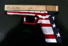 Glock Handguns For Women | Glock 22 -Nickel & Gold Slide/Custom DuraCoat