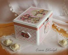 """Купить Чайный набор """"Зефирное настроение"""" - бледно-розовый, чайная коробка, чайный набор"""