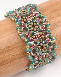 Instructions for Gritty Tweed Bracelet Beading by njdesigns1