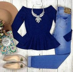 Casual Work Outfits, Work Casual, Jean Outfits, Casual Looks, Cute Outfits, Teen Fashion, Fashion Outfits, Womens Fashion, Mode Hijab
