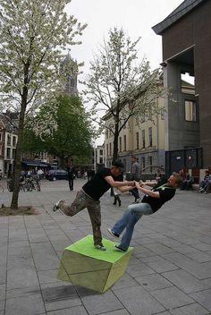 Leon Keer, 3d street art for Springdance 2011 festival.