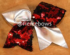 Reversible Sequin Cheer Bow on Etsy, $11.00