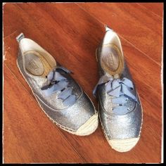 Coach glitter shoes ( espadrilles ) Size 7.5 never worn Coach Shoes