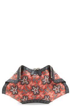 Alexander McQueen 'Floral Bandana De Manta' Silk Clutch available at #Nordstrom