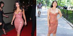 What It's Really Like to Wear Kim Kardashian's Latex Dress  - Cosmopolitan.com