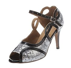 Kevin Fashion Womens Designed Fashion Silver Satin Latin Dance shoes 10 M US *** Read more reviews of the product by visiting the link on the image.(This is an Amazon affiliate link)