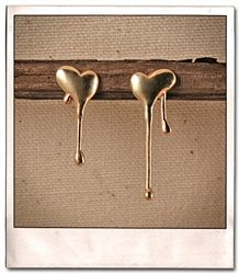 Melting Heart Stud Earring (silver or gold)