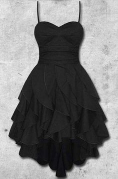 2016 Custom Charming Black Chiffon Prom Dress,Sleeveless Spaghetti Straps Evening Dress,Sexy Backless Prom Dress