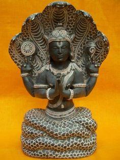 Patanjali Sculpture Hand Carved Black Stone Statue  #sculptures #stonesculptures #goddess #god #hindugodstatues