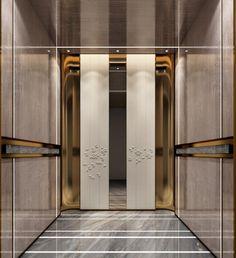 Lift Design, Door Design, Modern Hotel Lobby, Elevator Design, Cabin Interior Design, Elevator Lobby, Lifted Cars, Lobby Design, Cabin Interiors