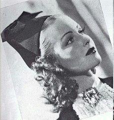 June Lang in a hat of velvet and felt, 1937 #EasyNip