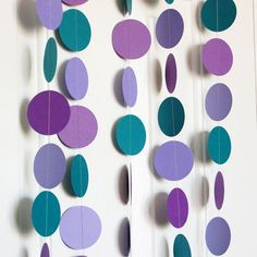 decoration with lilacs | ... Teal & Lilac Paper Garland Decoration - ... | Decorating & Gif