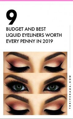 Budget liquid eyeliners you must get! #SimpleEyeliner Best Waterproof Liquid Eyeliner, Best Eyeliner, Airbrush Foundation, Oil Free Foundation, Best Beauty Tips, Beauty Hacks, Eyeliner Shapes, Perfect Cat Eye
