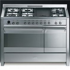 Dream oven! Has rotisserie function and a griddle! Smeg A3-7 Opera 120cm Dual Fuel Range Cooker - Stainless Steel