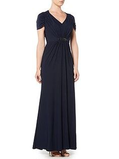 Cap sleeved beaded dress