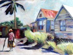 'Walking Home' by Kirsten Dear. Oil on canvas.