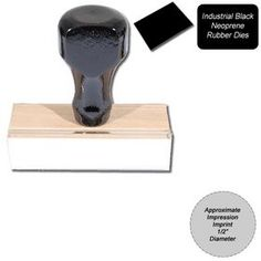 """Regular Black #Neoprene #Rubber #Stamp Size 1/2 Diameter. Find the Regular Rubber Stamp at Acorn Sales. It is a traditional hand rubber stamp and is 1/2"""" Diameter. Visit our online store and order now!"""