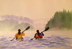 Kayaking Twins