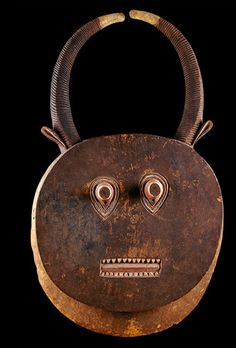 Africa | 'Goli' dance mask from the Baule people of the Ivory Coast | Wood with pigment