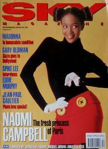 NAOMI CAMPBELL * MADONNA * SKY MAGAZINE * DEC '90 * V RARE! | eBay