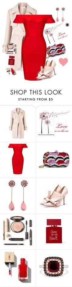 """""""Valentines Date"""" by sewarren04 ❤ liked on Polyvore featuring Miss Selfridge, Posh Girl, Gucci, Bella Freud and Effy Jewelry"""