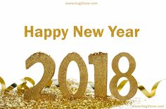 Golden 3D Happy New Year 2018 Background Pic