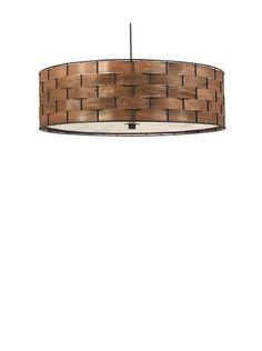 Design Craft Woven 3-Light Pendant Lamp