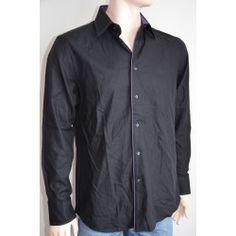 Next pánská košile, dlouhý rukáv černá 39 cm