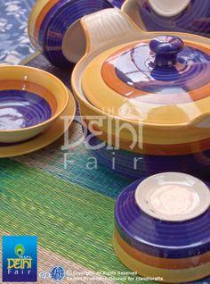 Heartwarming ceramic serveware with homespun aesthetics at IHGF Delhi Fair, India #source #sourcing #tableware