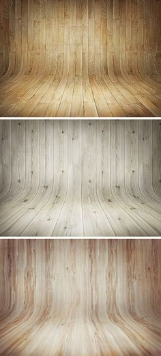 3 Curved Wooden Backdrops Vol.1 - Download Free