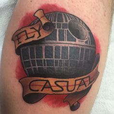 This hilariously funny death star tattoo