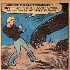 Jumpin' CHEESE-CRACKERS! | Vintage Comic Panel