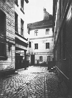 vor 1939 Hoher Steinweg 15,Aelteste Buergerhaus Berlins von 1400,Hof.