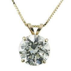 14k Yellow Gold Round-Cut Cubic Zirconia Solitaire Pendant (1.25 cttw) Amazon Curated Collection. $79.00. Made in USA