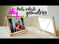 DIY - Porta-retrato Geométrico - YouTube