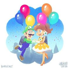 Want to discover art related to luigi? Check out inspiring examples of luigi artwork on DeviantArt, and get inspired by our community of talented artists. Princesa Daisy, Princesa Peach, Mario Bros., Mario And Luigi, Super Smash Bros, Super Mario Bros, Luigi And Daisy, Nintendo Princess, Nintendo Characters
