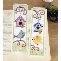 Birds and Birdhouses Bookmarks Counted Cross Stitch Kit