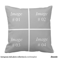 Instagram style photo collection throw pillow