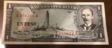 1957 Un Peso Banco Nacional De Cuba Jose Marti