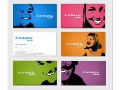 Este dentista optou por mostrar o sorriso dos pacientes em seu cartão de visitas