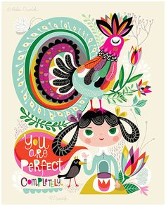 You Are Perfect... - limited edition giclee print of an original illustration (8 x 10 in)