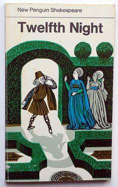 Shakespeare, Twelfth Night – New Penguin Shakespeare, Harmondsworth (1974) – Illustration de la couverture de David Gentleman