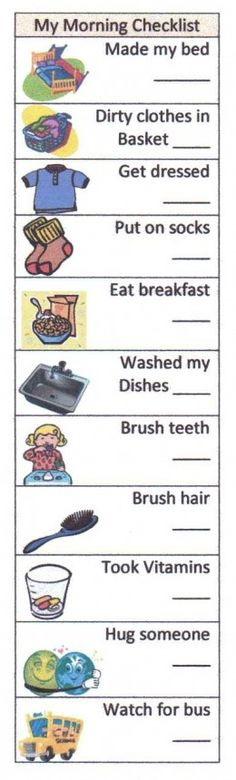 Help Your Child Succeed With A Morning Checklist