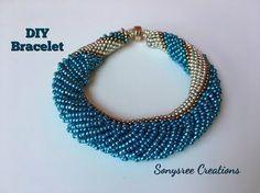 How to make Dutch Spiral Bracelet ~ Seed Bead Tutorials