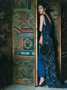 Liu Wen刘雯 for Bazaar China. Photographer: Sun Jun孙郡.