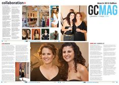 Huge thank you to the very gorgeous Courtney Thorpe for this amazing 3-page feature article in the March Edition of GC Mag, yay!!
